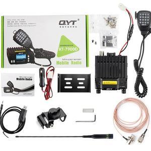 Image 4 - QYT KT 7900D mobil araç radyo walkie talkie 10 km quad band fm mobil radyo alıcı verici Mini araç mobil radyo
