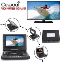 Portable 7 720P HD DVD Player Swivel Screen TV Player Support Game Radio MP3 Players Professional