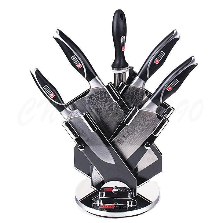 Germany Damascus Steel Knife Set 7 Pcs Kitchen Knife Sets Universal