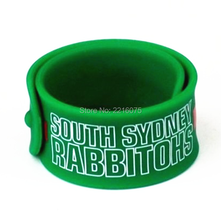 500pcs Sports South Sydney Rabbitoh Silicone Slap Bracelets Rubber Wristband Free Shipping By Dhl Express In Wrap From Jewelry Accessories On
