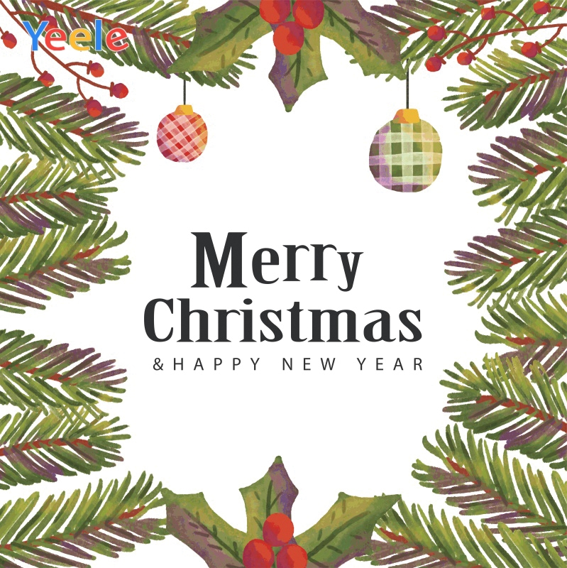 Yeele Christmas Family Party Decor Leaves New Year Photography Backdrops Personalized Photographic Backgrounds For Photo Studio