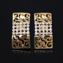 2018 Fashion Women Dubai Gold-color Jewelry Sets Big Nigerian Wedding African Jewelry Sets african beads jewelry set
