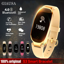 купить S3 Fashion Smart Band Bracelet Girl Women Heart Rate Monitor Wrist Lady Female Fitness Tracker Wristband for Android IOS по цене 1562.5 рублей