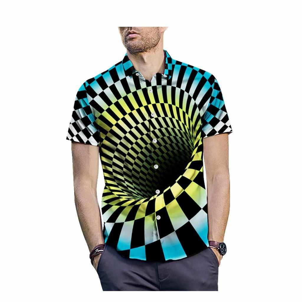 Мужская гавайская рубашка мужской повседневное Camisa Masculina Печатных Пляжные рубашки короткий рукав брендовая одежда Азиатский размеры Apr8