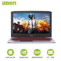 BBEN G16 Gaming Laptops Intel Core i7 7700HQ Nvidia GTX1060 PC Tablets 15.6 1920X1080 IPS FHD quad cores backlit windows10