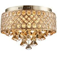 Flush Mount Gold Led Ceiling Lamp Chandelier Crystal Lights E14 Bulb Ceiling Light Indoor Lighting Kitchen