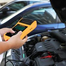 Новый 12 В в автомобильный аккумулятор тест er цифровой автомобильный аккумулятор тест er анализатор тест с принтером многоязычный анализатор напряжения