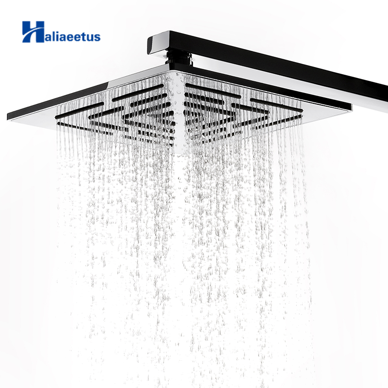 12 Inch 30 CM Stainless Steel Square Rain Shower Head 556 Holes Water Out Rainfall Showerheads