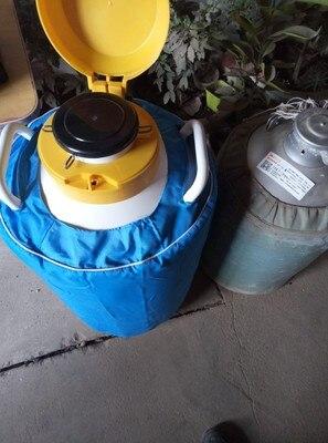 Pot de crème glacée fumée 10L contenant de l'azote liquide réservoir cryogénique de haute qualité Dewar pot de beauté d'azote liquide YDS-10 - 5