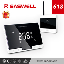 SASWELL WiFi Thermostat Controller for Water/Electric floor Heating Water/Gas Boilertermostato  weekly programmable  Temperature