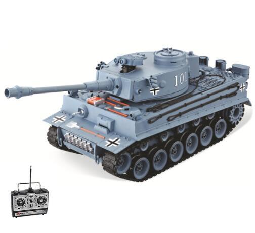 RC Tanque Alemão Tiger 101 Tanque 1:20 Sobre O Tamanho Grande Pode Lançar Bala Militar Tanque de Simulação das Crianças Brinquedos Modelo presentes