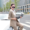 New Ladies Pant Suits 2016 Spring Autumn Fashion Hot Sale Formal OL Pants Suits Top Quality Suits Casual Women's 2 Pieces Sets