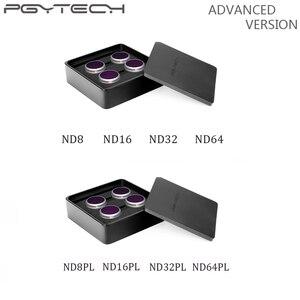Image 1 - مرشح متقدم PGYTECH لـ Mavic 2 Zoom ND8/16/32/64 PL ND8/16/32/64 مرشحات عدسات الكاميرا لـ DJI Mavic 2 Zoom Drone ملحقات