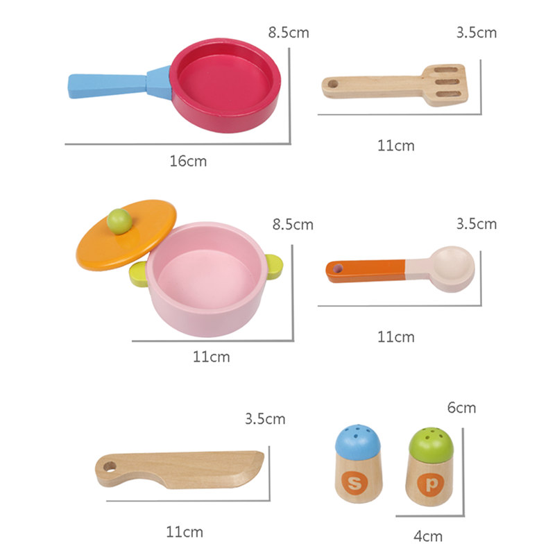 Candywood Mother Garden Baby kids wood kitchen cooking toys wooden kitchenette gas stove Educational Toys for girl gift