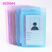 Transparent plastic card sleeve ID Badge Case Clear Bank Credit Card Badge Holder Accessories Reels Key Ring Chain Clips(China)