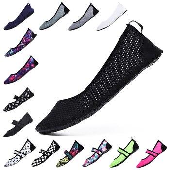 a7ea5fbb1 Las mujeres Aqua zapatos de playa piscina calzado descalzo mujer pesca agua zapatillas  de deporte no caminar zapatos de agua zapatos