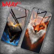 Funda de vidrio Animal para Huawei Honor 10 funda de silicona de lujo para Huawei P20 Pro Honor Play 9 mate 10 Lite P Smart(China)