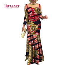 Hitarget african women dresses dashiki dress african print Sexy strapless  fishtail dress african women clothing party 8197ba081aed
