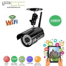 IPCC WiFi 1080 P Пуля камеры Беспроводной 2-мегапиксельная ip камер 2 Способ аудио Главная Security Network Camera Plug Play iPhone Мобильный Вид Установки