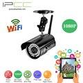Ipcc wifi 1080 p bala cámara de 2mp ip camer inalámbrico de 2 vías audio seguridad para el hogar cámara de red plug & play iphone móvil configuración de vista