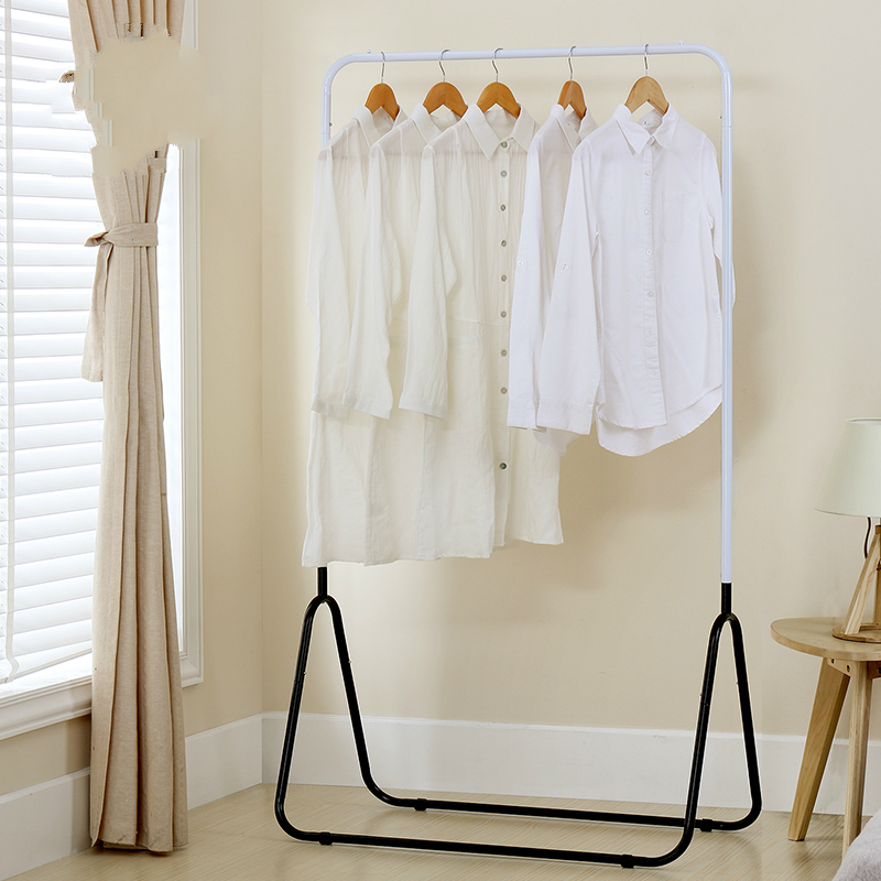 Metal coat hanger clothes hanger metal outdoor balcony drying rack for clothes metal clothes stand hanging clothes rack actionclub multifunction triangle simple coat rack stainless steel removable clothes hanging hanger floor stand coat rack wheels