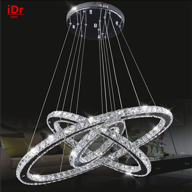 Simple Modern Stainless Steel Crystal Chandelier Led Lamp Restaurant Bedroom Living Room Lighting The Upscale Atmosphere