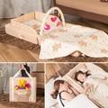Новый Тип Портативный Складной Детская Кровать Путешествия Супер Легкий Вес Удобный Новорожденного Мягкие Детские Кроватки Кровать Нести Легко C01