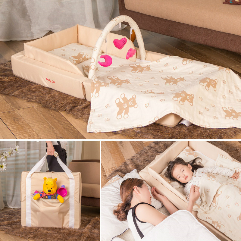 New Type Folding Portable Baby Bed Travel Super Light Weight Convenient  Newborn Infant Soft Baby Cribs Bed Carry Easy C01 original baby delight snuggle nest infant safety isolation bed infant baby cribs infant bed infant baby sleeping bed music bed