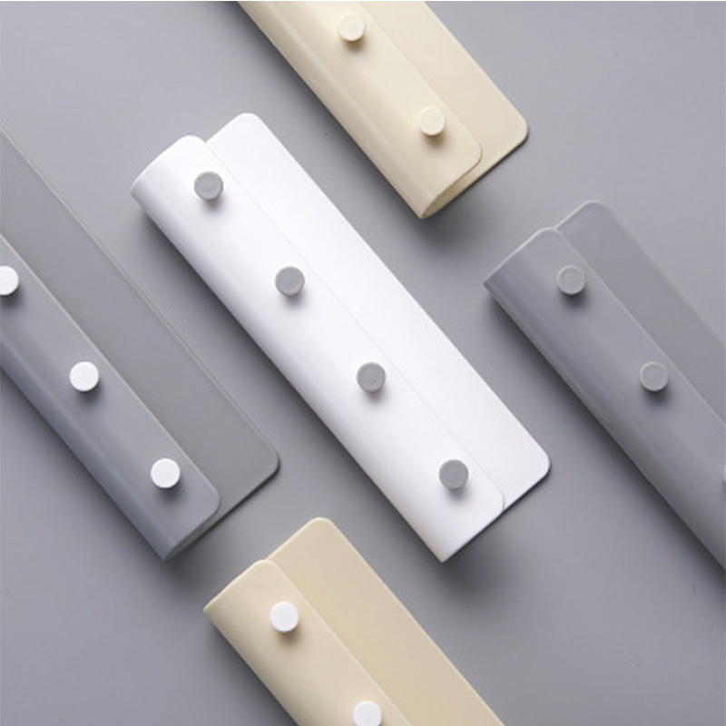 Nordic Style Home Key Hook Drill-free Wall Mounted Clothes Cap Hat Hanger Home Bathroom KItchen Small Item Hanging Hooks