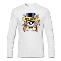 Man Logo Guns N Roses Shirts pop muziek Printing Fancy Schedel Klassieke Kraag Tees Cool jeugd Gratis verzending T-shirts