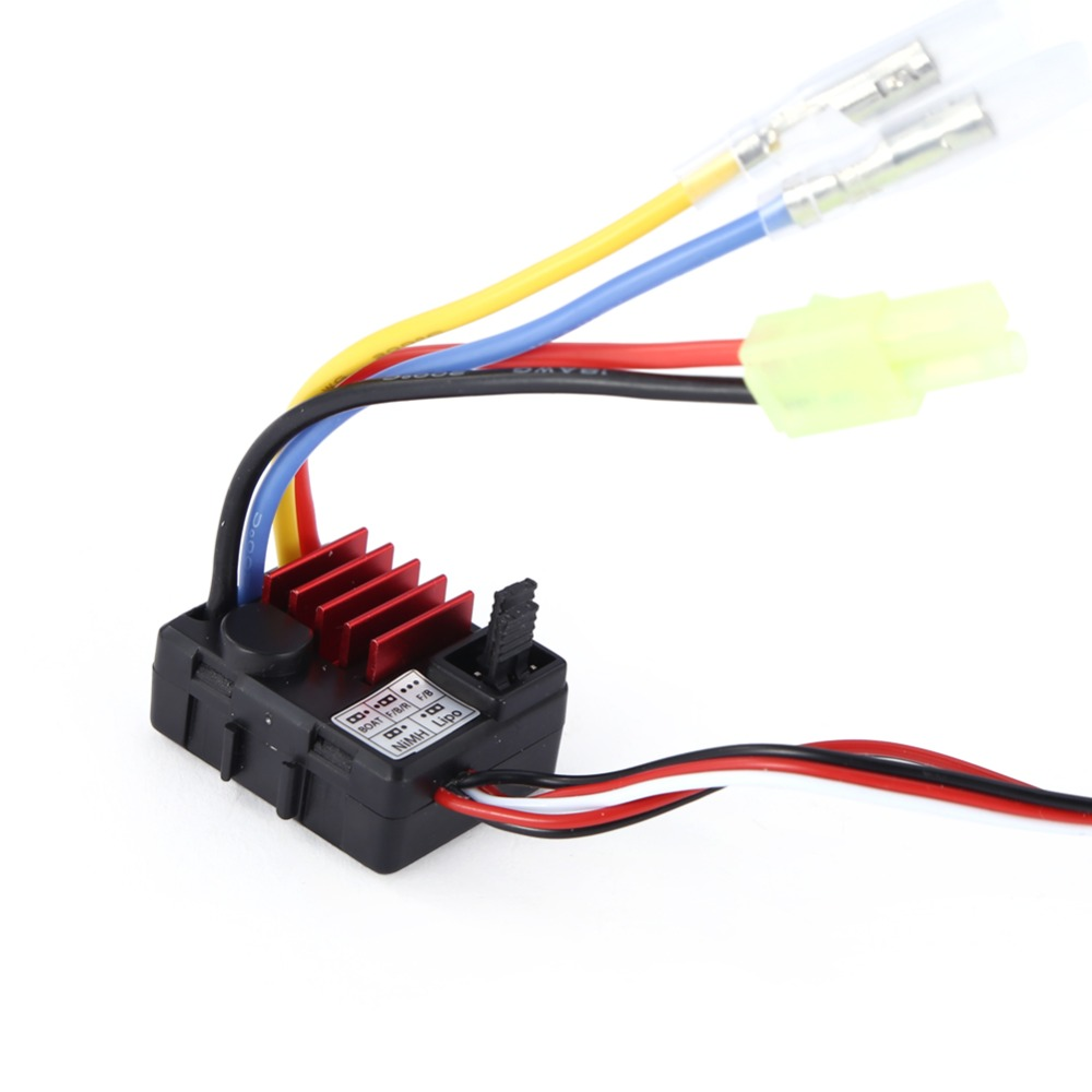 Waterproof 25A TB-60025 ESC Brushed Speed Controller 1A / 6V BEC For 1/18 1/24 RC Car Truck