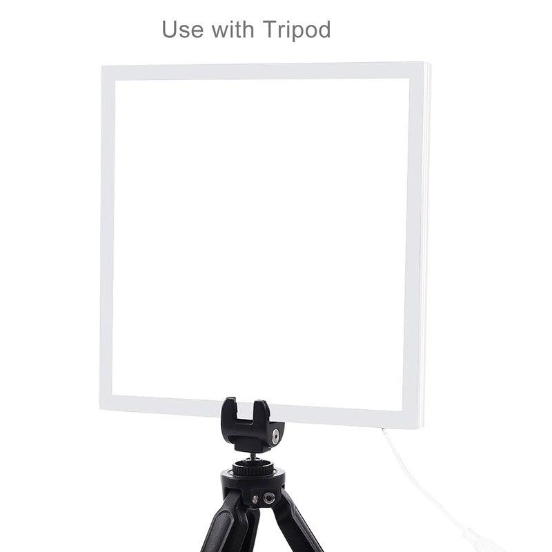 LED Shadowless White Background Light 20x20cm Studio Dimmable Light Photography Lamp Bottom Shooting For Photobox CD50 T10