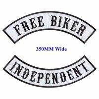 Бесплатные байкерские мотоциклетные байкерские нашивки с железными нашивками для полных задних курток, одежда, самостоятельные вышитые ко...