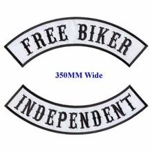 Байкерские нашивки для мотоциклистов, бесплатные нашивки с утюгом на всю заднюю часть куртки, независимые нашивки с вышивкой рокера