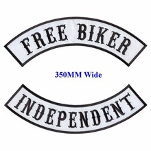 FREE BIKER motorcycle biker patches iron on patches for full back jackets clothing INDEPENDENT embroidered rocker patches