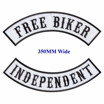 FREE BIKER motorcycle biker patches iron on patches for full back jackets clothing INDEPENDENT embroidered rocker patches фото