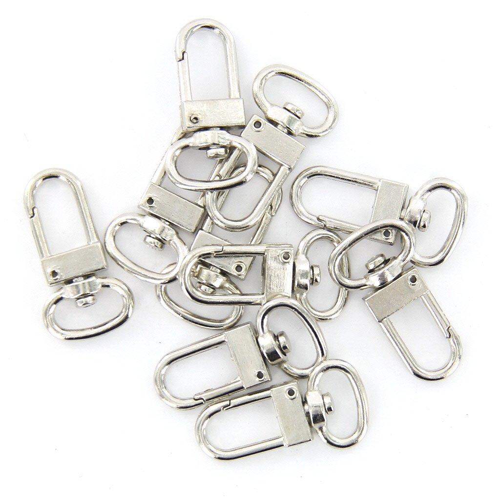 10 Pcs High Quality Swivel Carabiner Hook Silver Color Key Chains Sleutelhanger Key Ring 18mm X 33 Mm