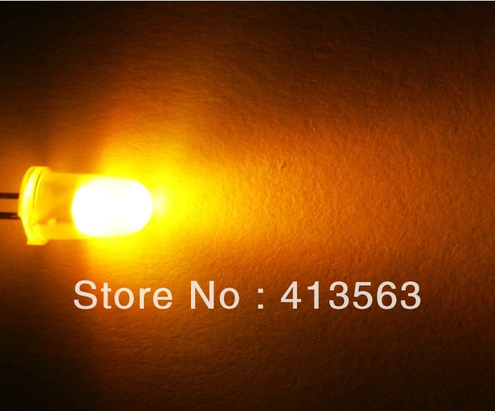 1000PCS F3 3MM  YELLOW  light ,YELLOW  BRIGHT YELLOW LED ,HIGH BRIGHT LED lamp light tube LONG  legs