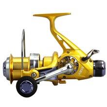 Yumoshi Металл Карп спиннинг нахлыстом катушки Baitcasting Reel мулине Рыбалка ручной тормоз рыбалка колеса KM50 KM60 катушки