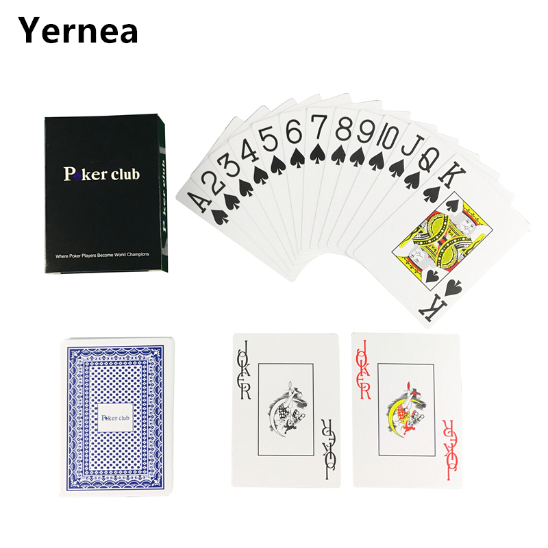 New Hot Smooth Waterproof Baccarat Texas Holdem Plastic Playing Cards PVC Poker Club Cards Wear-resistant 2.48*3.46 inch Yernea