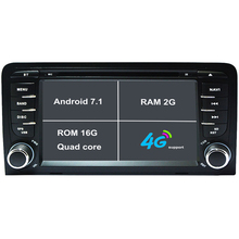 Android 7.1 Car DVD Player For Audi A3 S3 Car Radio GPS Navigation car stereo headunit tape recorder with USB RAM 2G 3G/4G WIFI