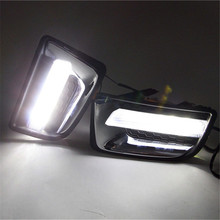 LED dlr for ISUZU D-MAX 2014 2015 Daytime running lights front fog lamp cover driving light