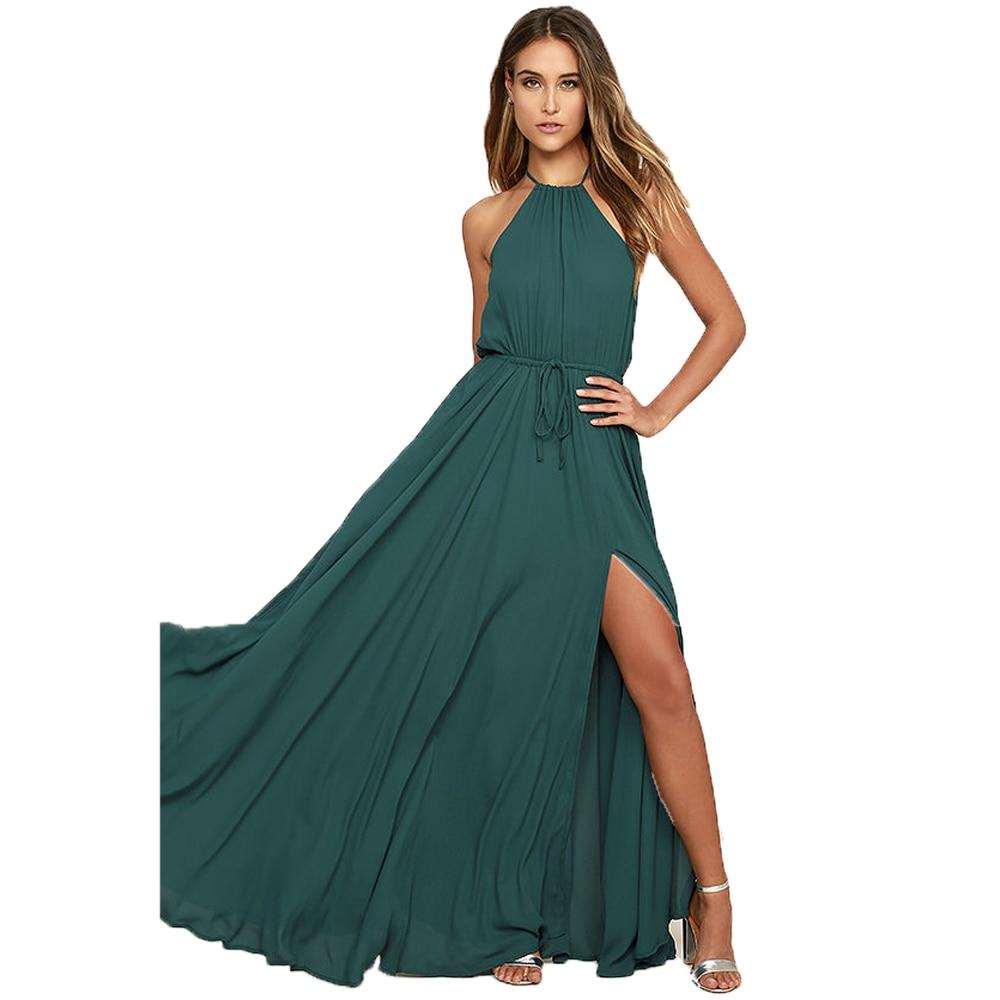 Elegant 2017 Bridesmaid Dresses Long Wedding Party Dress