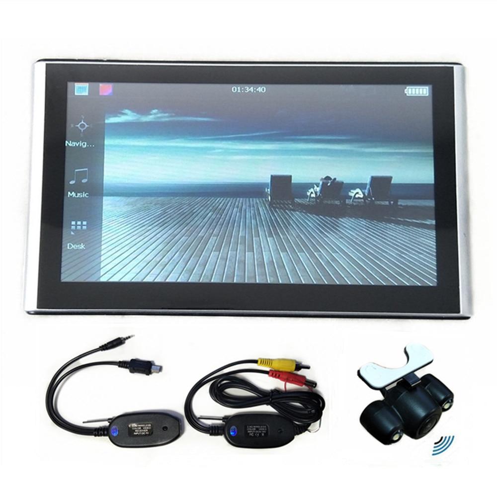 """"""" автомобильный gps-навигатор 8G SAT NAV CPU800M+ FM+ бесплатные карты, Bluetooth AV-IN и беспроводная камера заднего вида на выбор - Размер экрана, дюймов: With wireless camera"""
