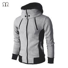 Windjacke Jacken Mann Mode 2019 Neue Herbst Winter herren Jacke Zipper Männlichen Solide Sportswear Fleece Warme Mit Kapuze Mantel Outwear(China)