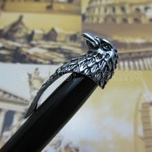 Promotion!!! Fuliwen pen Roller Ball Pen Brand good quality Black and American Bald Eagle Head Clip Pen Red Black Fl1092411 цена