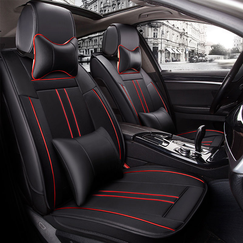 Leather Universal car seat cover covers automobiles accessories for cadillac cts xts xt5 ats sls ct5 ct6 escalade 2017 2016 2015