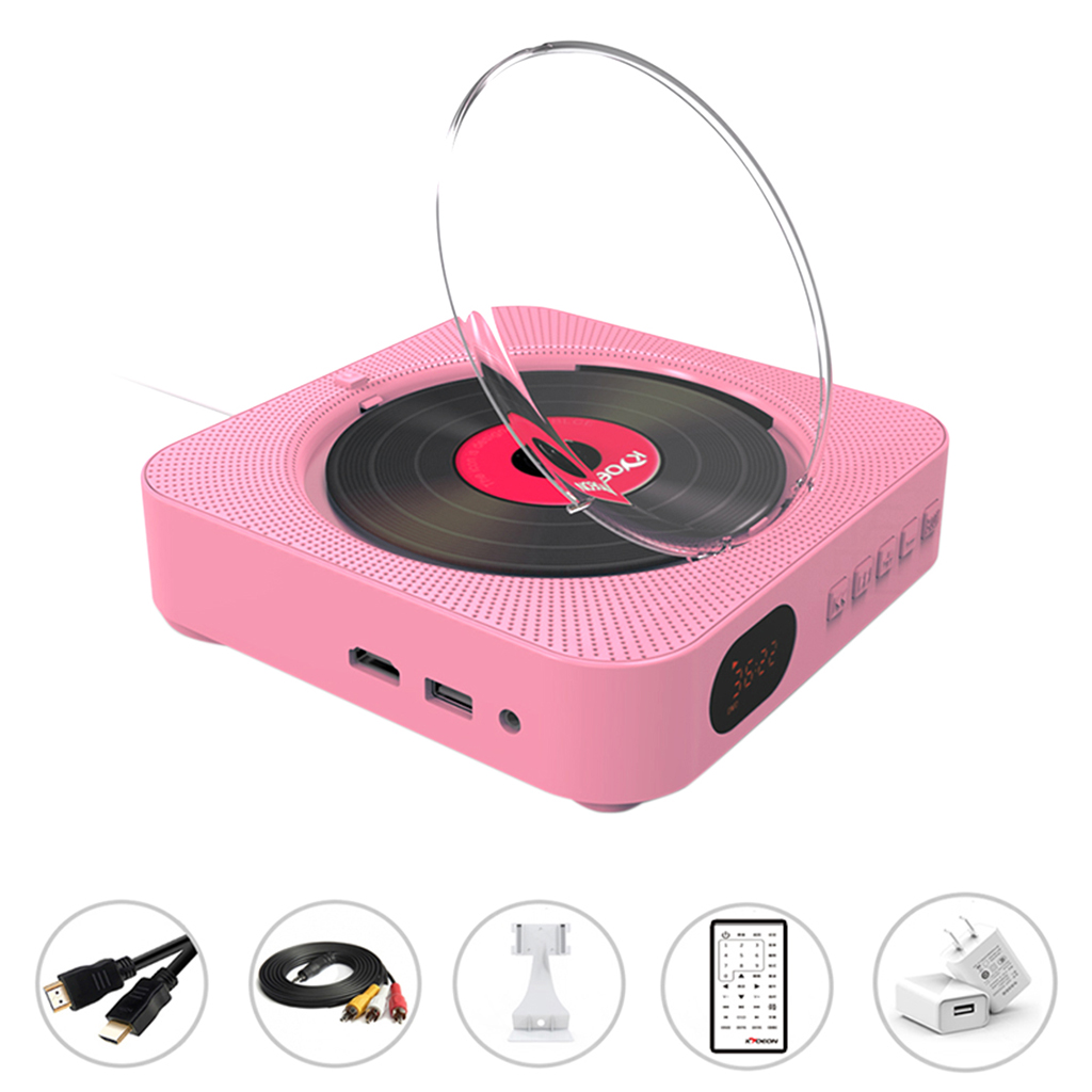 DVD Player Wall Mount Portable Bluetooth Home Audio Boombox Bluetooth CD/DVD all-in-one Player wireless remote control FM radio
