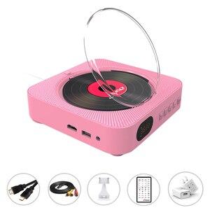 Image 4 - Leitor de dvd suporte de parede portátil bluetooth casa áudio boombox bluetooth cd/dvd tudo em um leitor rádio fm de controle remoto sem fio