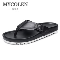 MYCOLEN лидер продаж; Новинка брендовые Классические летние Для мужчин вьетнамки слайд мужские тапочки удобные дышащая пляжная обувь Tamanco